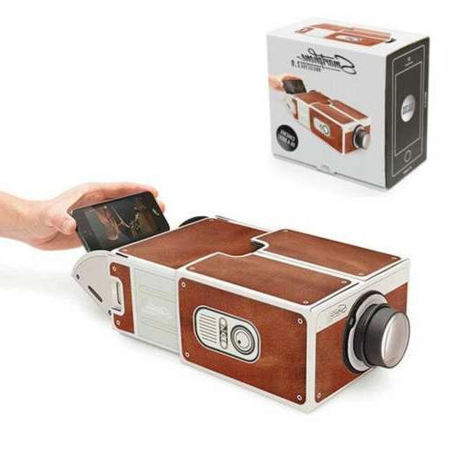 3d cardboard mini smart phone projector adjustable