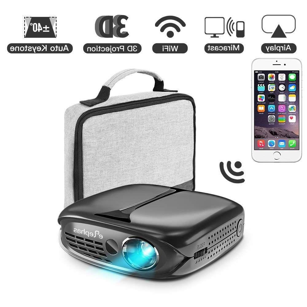 3d mini projector 100 ansi lumen wifi