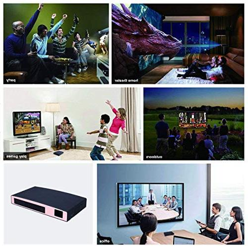 3D Projector DLP LED Projector HD Supports Phone Multimedia Outdoor for