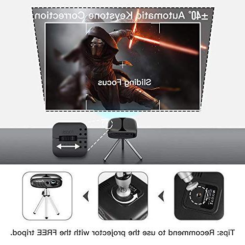 3D Mini WiFi DLP Video Ideal iPhone Smart-Phone HDMI Koala Movie Party