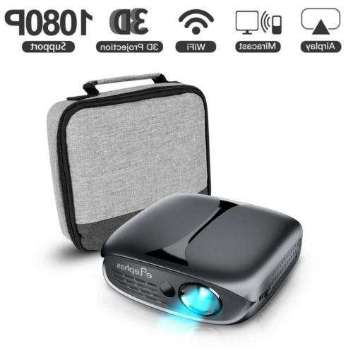 3d mini projector wifi dlp portable pico