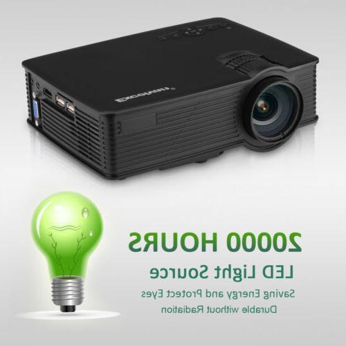 3D LED Projector HD USB/SD/AV Home Cinema Theater