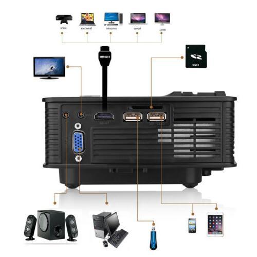 3D LCD Projector HD 7000Lumen Home Cinema Theater Video