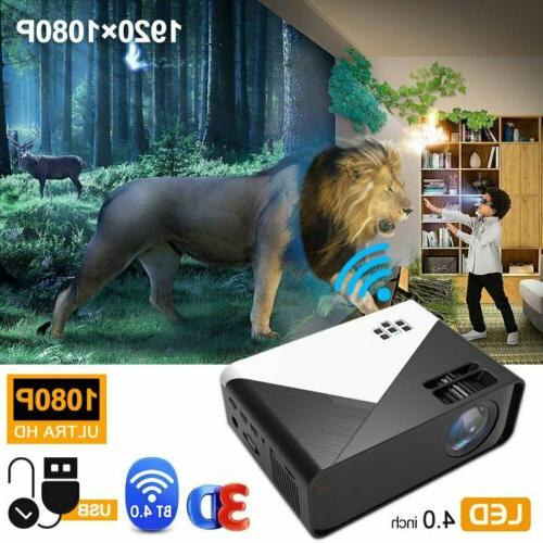 3D Wireless LED Projector HD Theater USA