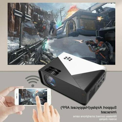 4K 1080P Mini Projector Home Theater Cinema USB HDMI