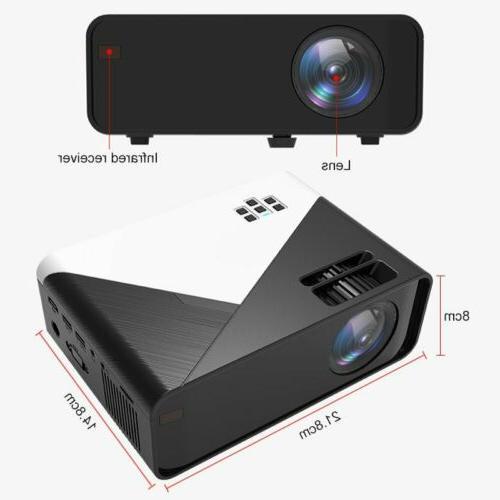 3D WiFi Wireless Projector HD Smart Home USA
