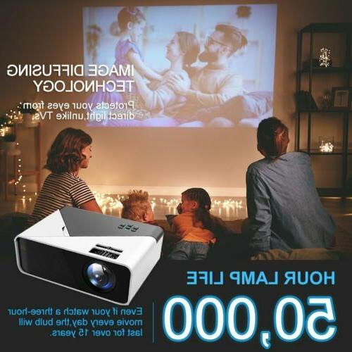 4K HD Mini Projector Home Theater HDMI Lumens