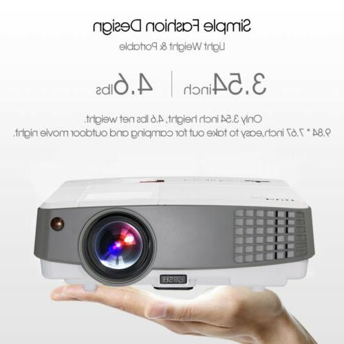 EUG 4000lm HD Mini Projector Movie Home Theater USB Game