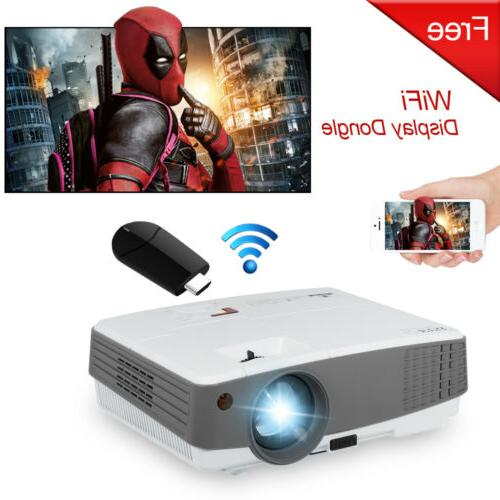 4000lm mini led projector home theater hdmi