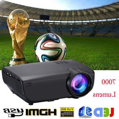4k 1080p 7000 lumens led mini projector