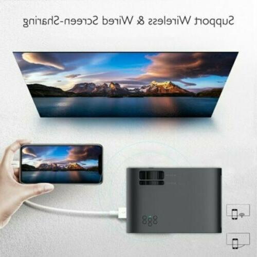 4K HD 3D Mini Video Theatre Projector 18000LM