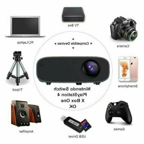 4K HD 3D Mini Theatre Cinema 18000LM HDMI