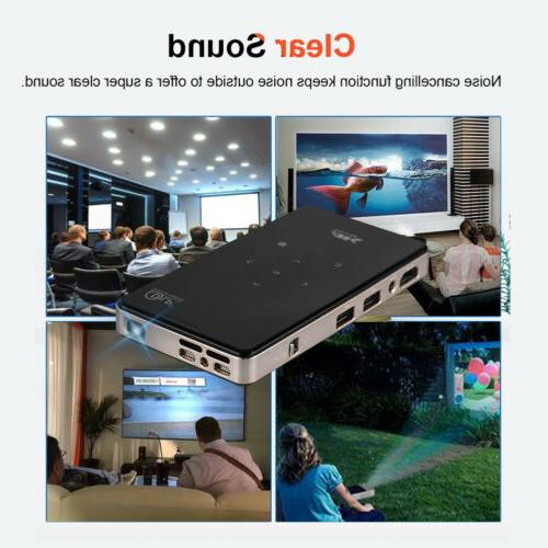 4K Smart DLP Mini Projector WiFi Bluetooth 1080P 8G HDMI