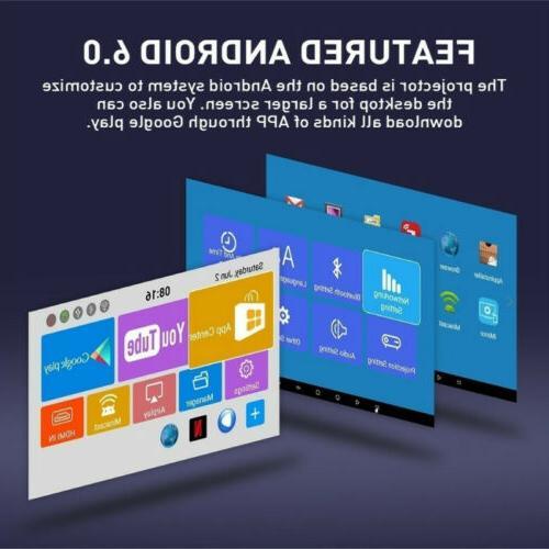 4K Smart Bluetooth Mini Projector Home 8/16G