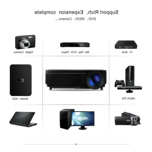 5000 1080P HD Mini Projector Home USB ATV SD