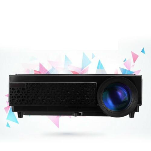 5000 1080P Full HD Mini Projector Home Cinema HDMI USB ATV SD