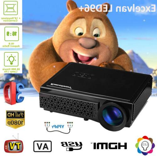 5000 lumens 1080p full hd mini 3d