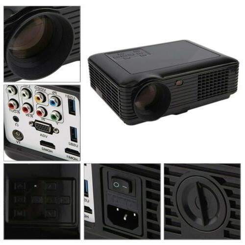 5000 Lumens 1080P Home Projector 3D LED Portable HDMI VGA USB New