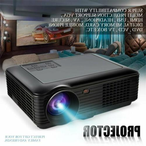 5000 Lumens HD 1080P Home Projector 3D LED VGA
