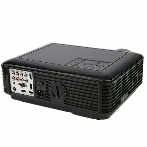 5000 HD Home Projector 3D LED VGA USB