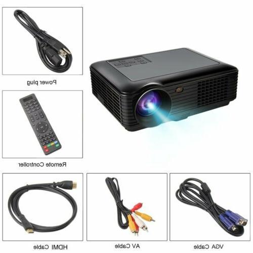 5000 Lumens Home LED SD VGA USB New