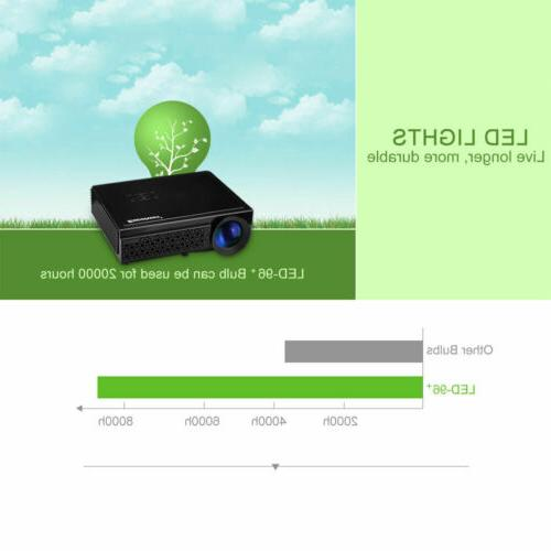 5000 Mini LCD Projector 3D 1080P Home Theater