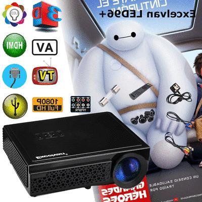 5000 Lumens LED LCD 3D 1080P Home Theater HDMI*2/USB*2/VGA/TV