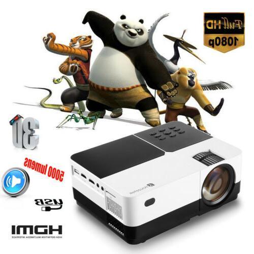 5000 lumens mini led lcd projector full