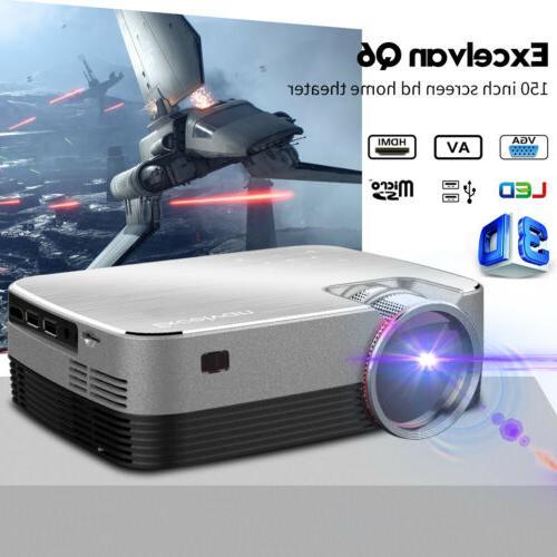 5000 lumens mini portable led projector 1080p