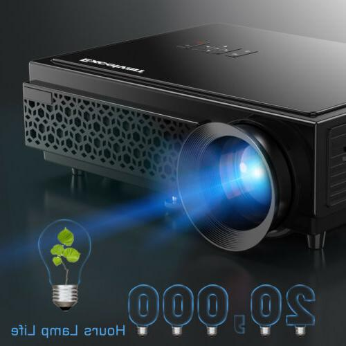 5000 Lumens 3D Projector HD Home Theater VGA