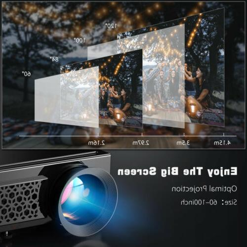 5000 Lumens 3D Projector Home Theater Cinema HDMI VGA SD