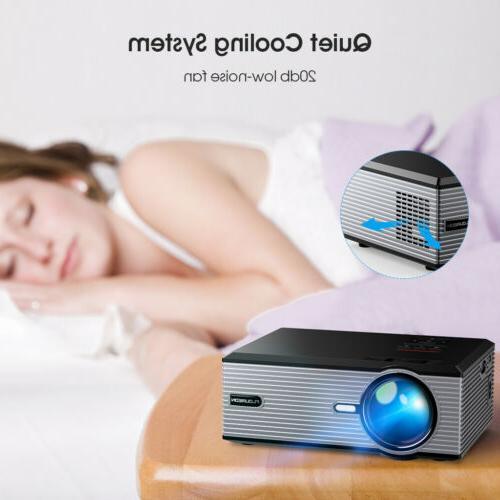 5000 Lumens Portable Projector Theater USB VGA