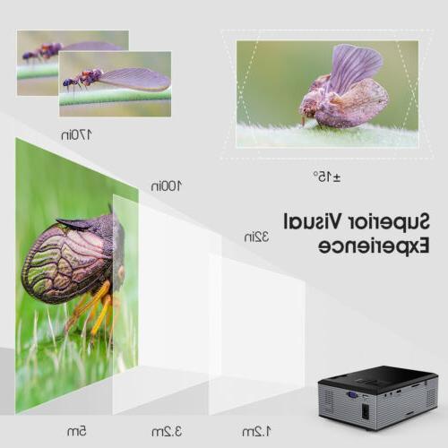 Projector HD Theater 3D USB VGA
