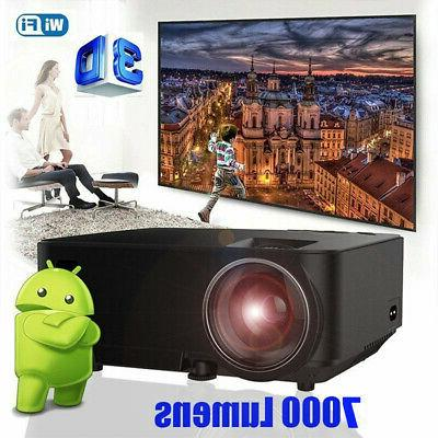 5000lumens mini projector wifi led smart android