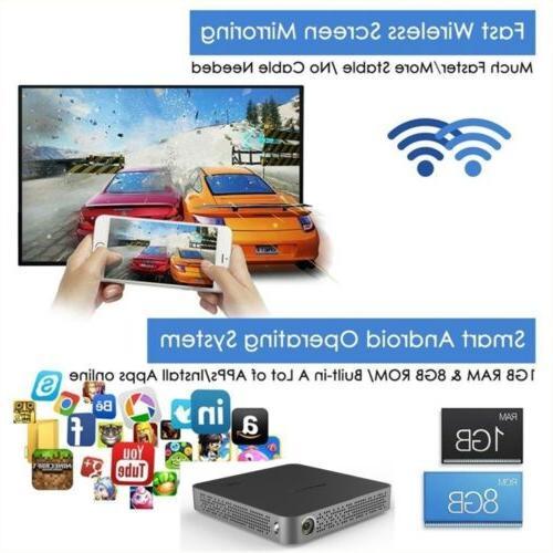 Mini 5500Lumens DLP HD Bluetooth Home Theater USB