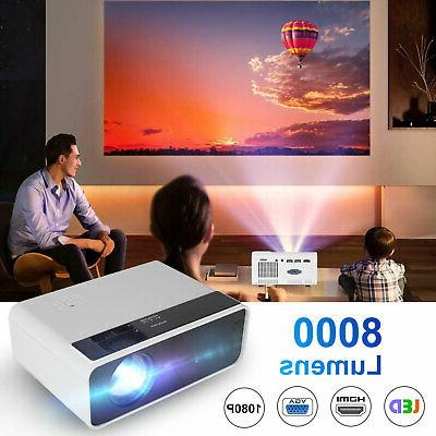 8000 Lumens LED Home Theater Cinema