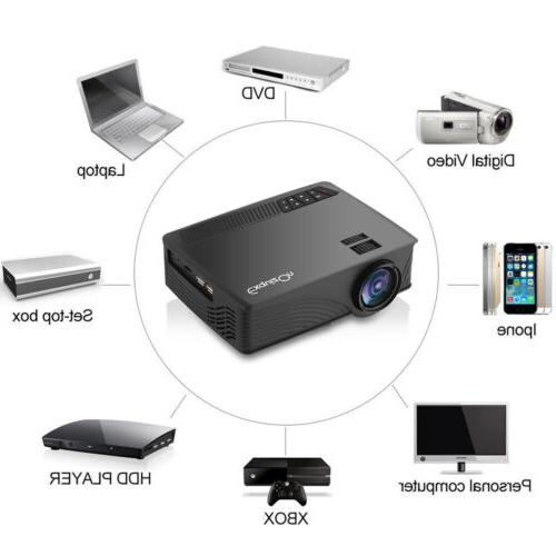 7000 LM HD Mini Home Projector LED 3D Tripod