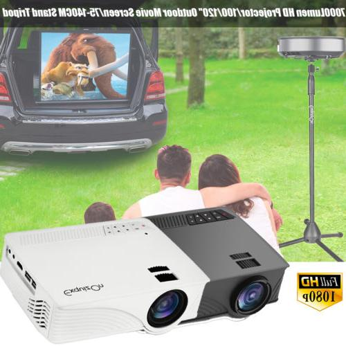 7000 lm hd mini home projector led
