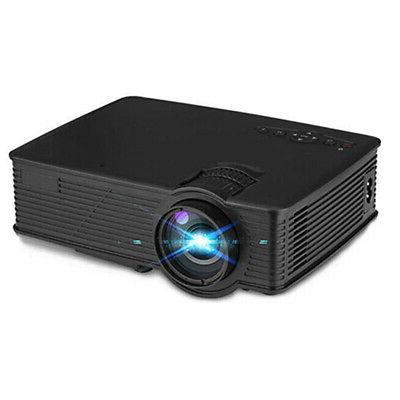 7000 Lumen LED Projector HD Home USB USB/SD/HDMI/AV