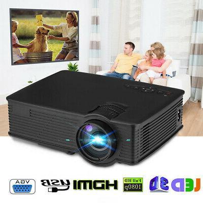7000 Lumen Mini LED HD 1080P Home Theater USB/SD/HDMI/AV