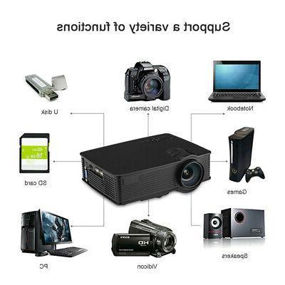 7000 Lumen Mini 3D LED HD 1080P Home Theater Cinema USB/SD/HDMI/AV