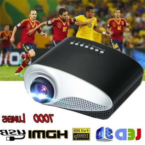 7000 3D HD 1080P LED Theater USB