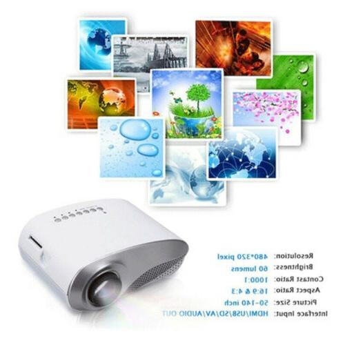 7000 Lumens Full HD LED Multimedia Home Theater USB HDMI