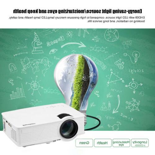7000 Lumens FHD 3D Mini Home Projector USB