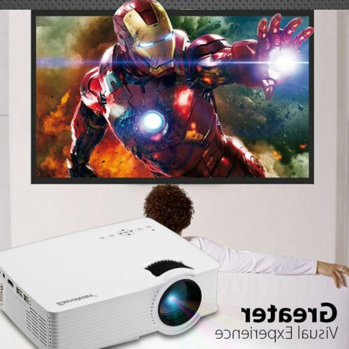 Mini 5000Lumens 1080P FHD LED LCD Projector Home Cinema Thea