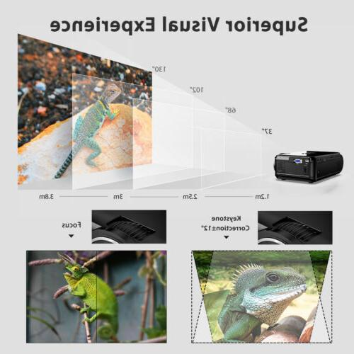 "Portable 7000 130"" Mini LED Projector Home SD"