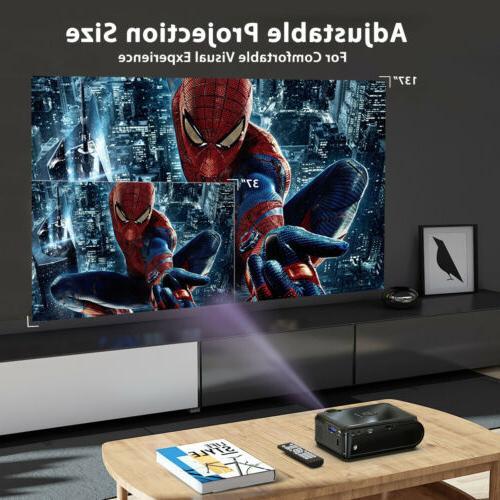 "Portable Lums 130"" Mini LED Projector Home Theater SD AV ATV"