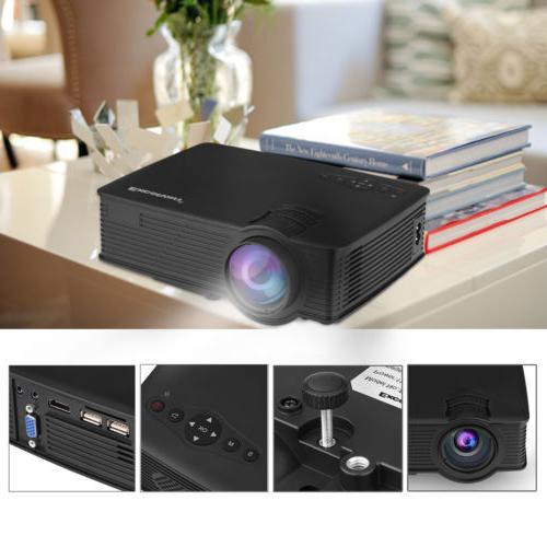 1200 Portable Mini Projector Theater Cinema SD