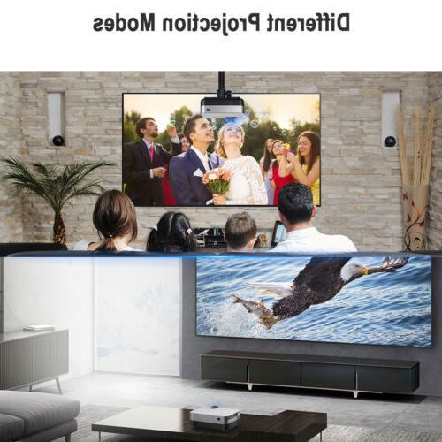Mini Portable 1080P Projector Home Theater Lumens