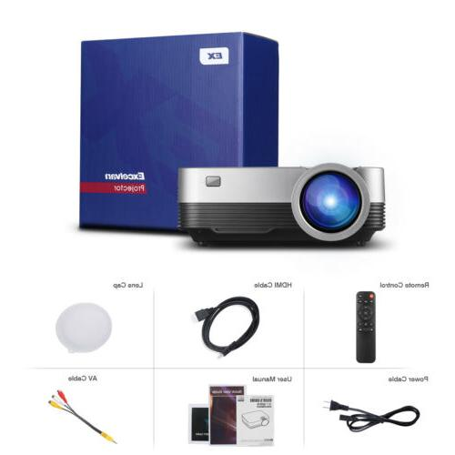 Mini Portable Full HD 1080P Projector LED Video Home Theater